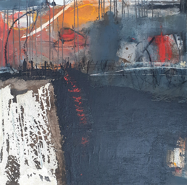 Abstrakte Malerei Bild 100 KR 80x80x3,5cm