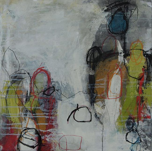 Abstrakte Malerei Bild 209 KR 50x50x1,5cm