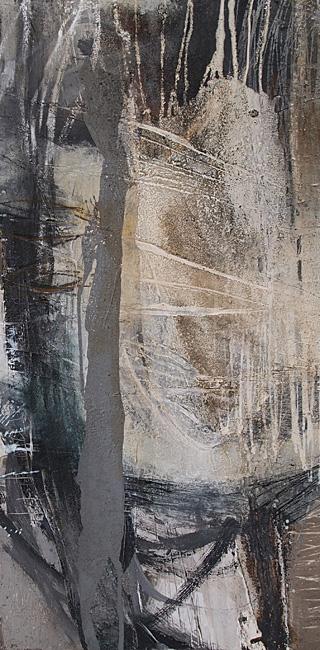 Abstrakte Malerei Bild 359 KR 100x50x4cm